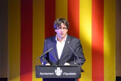 Carles Puigdemont, protagonista de la Diada a Igualada