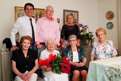 Carme Royo, nova àvia centenària a Igualada