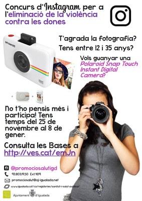 Concurs d'Instagram per joves al voltant del 25N