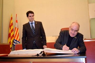 El conseller Bargalló, rebut a l'Ajuntament d'Igualada