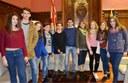 Els Joves Corresponsals de La Kaserna visiten l'Ajuntament