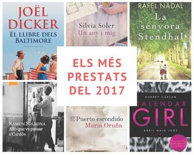 Els llibres més prestats a la Biblioteca Central durant el 2017