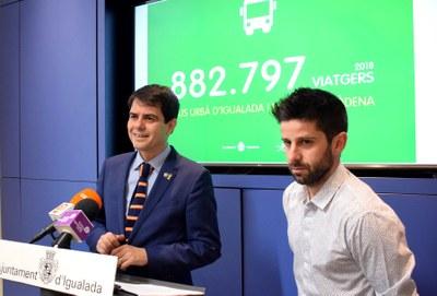 Els usuaris del bus urbà a Igualada i la Conca d'Òdena creixen un 6% el 2018