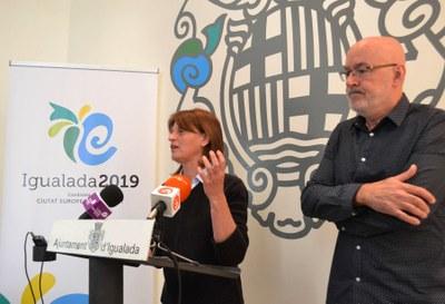 """Es presenta la imatge de la candidatura """"Igualada, Ciutat Europea de l'Esport 2019"""""""