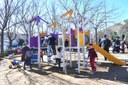 Es renoven els jocs infantils del parc de Les Comes