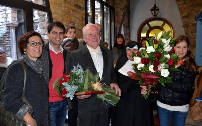 Felicitació a Francesc Torras Puigrodon pel seu centenari