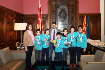 Felicitació als guanyadors de la First Lego League Barcelona