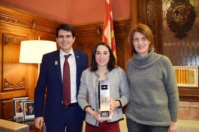 Felicitació de l'Ajuntament a la triatleta Anna Noguera