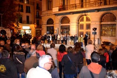 Concentració per rebutjar l'agressió del 29 d'octubre
