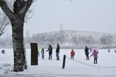 Igualada recupera la normalitat després de la nevada