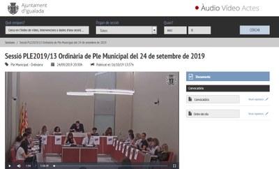"""L'Ajuntament d'Igualada estrena el sistema de """"videoacta"""" de les sessions del Ple Municipal"""