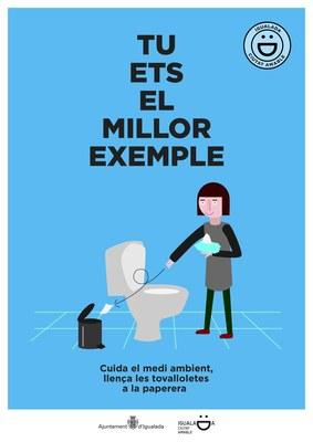 """L'Ajuntament d'Igualada promou noves actituds cíviques, nous missatges amb el lema """"Tu ets els millor exemple"""""""