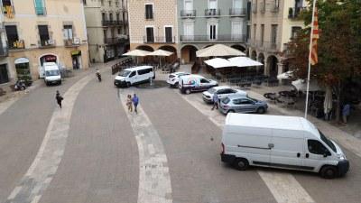 Mesures per limitar els vehicles que circulin i estacionen a les zones de vianants