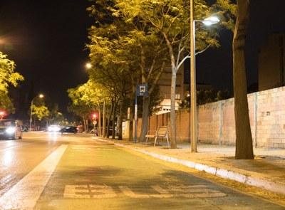 Millora de la il·luminació per vianants a l'Av. Barcelona