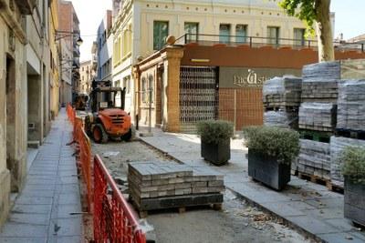 Millora del paviment al carrer Sant Pau