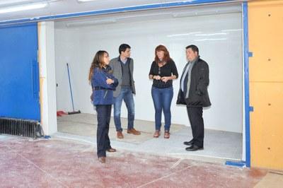 Visita d'obres a l'institut Joan Mercader