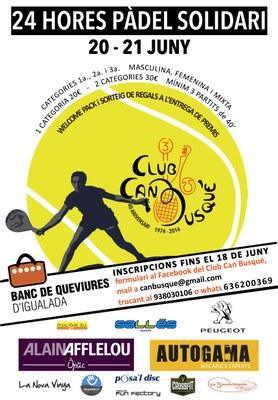 24h de Pàdel Solidari a favor del Banc de Queviures