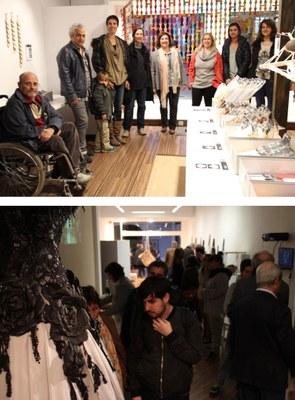 """Inaugurada l'Exposició """"Pell: entre l'art i el disseny"""" de l'Escola Municipal d'Art a la Galeria Artèria"""