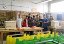Alumnes del Joan Mercader fan noves tanques per al Saló de la Infància
