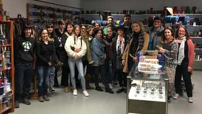 Els alumnes de pell de LaGaspar visiten Curtits Gabarró