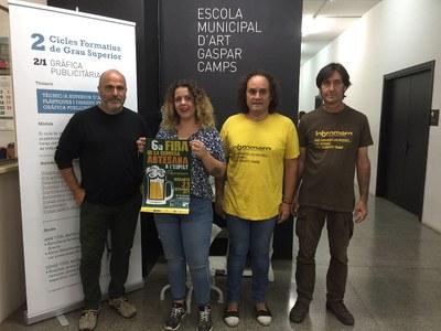 Mar Pérez Jorba, alumna de l'Escola municipal d'Art Gaspar Camps, guanyadora del Concurs de cartells de la Fira de la Cervesa Artesana de l'Espelt 2017