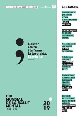 #punticoma, una campanya de prevenció de la mort per suïcidi, impulsada amb motiu del Dia Internacional de la Salut Mental