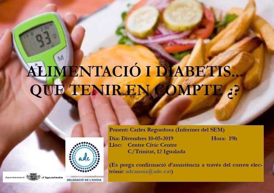 Alimentació i diabetis. Què tenir en compte?