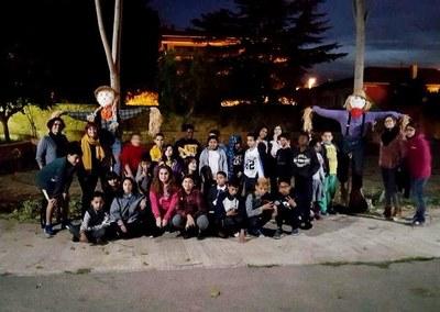 Activitats dels infants dels centres oberts per la Castanyada