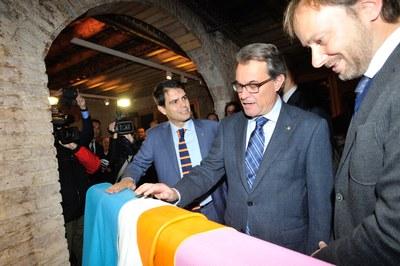Artur Mas inaugura la seu de l'Igualada Leather Cluster Barcelona