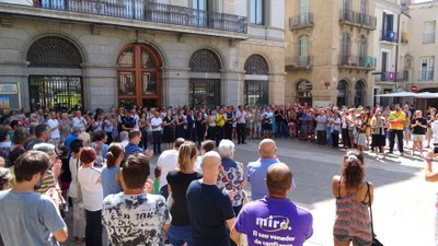 Concentració per condemnar l'atemptat de Barcelona