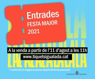 Dimecres, 11 d'agost, s'obre la venda d'entrades per les activitats i espectacles de la Festa Major d'Igualada
