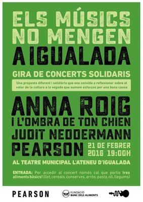 El 21 de febrer, concert solidari amb el Banc dels Aliments