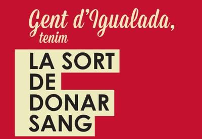 El 24 de setembre, Marató de Donació de Sang a Igualada