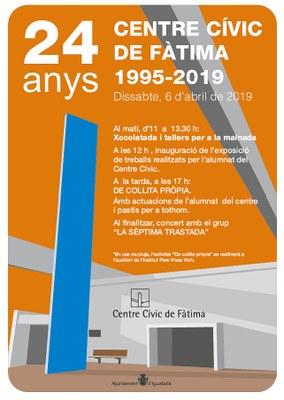 El 6 d'abril, 24è aniversari del Centre Cívic de Fàtima