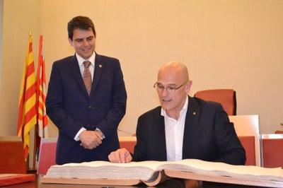 El conseller Romeva, rebut a l'Ajuntament d'Igualada