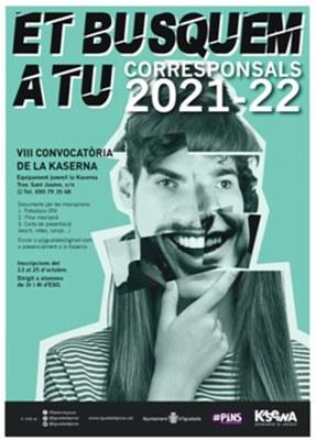 El Departament de Joventut inicia el projecte de joves corresponsals d'aquest curs 2021-2022