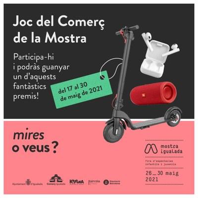 El Joc del Comerç ofereix l'oportunitat de guanyar premis fins el 30 de maig a Igualada