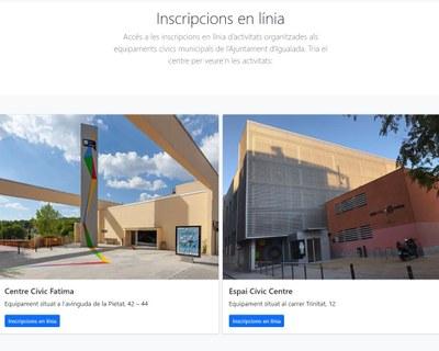 Els equipaments cívics d'Igualada estrenen programació virtual i  un nou sistema d'inscripció per internet