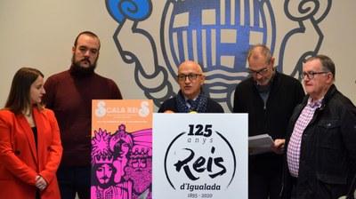 Els Reis d'Igualada commemoren el 125è aniversari de la cavalcada
