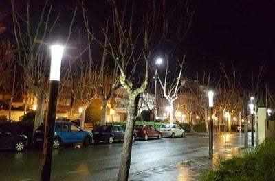 Es renova la il·luminació del Passeig Verdaguer