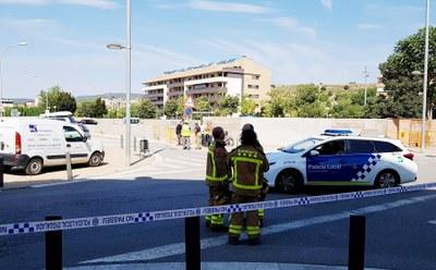 Estabilitzada una fuita lleu de gas al carrer Comarca