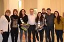 Felicitació a Maria Díez i Teresa Bernadas