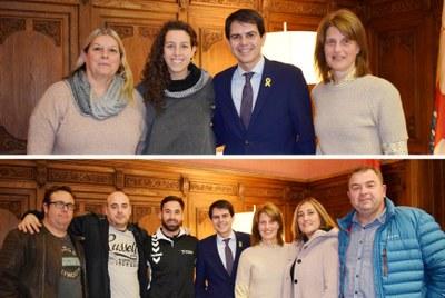 Felicitació a Roger Calzada, Pol Cantero i María Díez