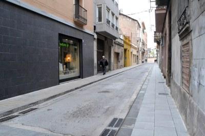 Finalitza l'ampliació de voreres als carrers Sant Josep i Sant Carles