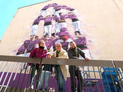 Finalitzat el mural dels Moixiganguers al carrer Sant Faust