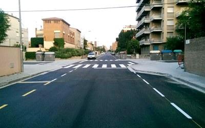 Finalitzen les millores d'accessibilitat al carrer Capellades