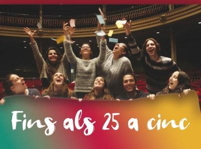 'Fins als 25 a cinc', teatre a preu reduït per als joves
