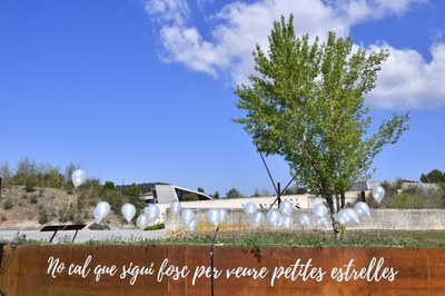 Igualada obre un espai de record decicat al dol perinatal a l'entrada del Cementiri Nou