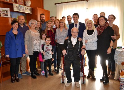 José Reyes, nou avi centenari a Igualada