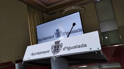 L'Ajuntament d'Igualada celebra un ple extraordinari per via telemàtica